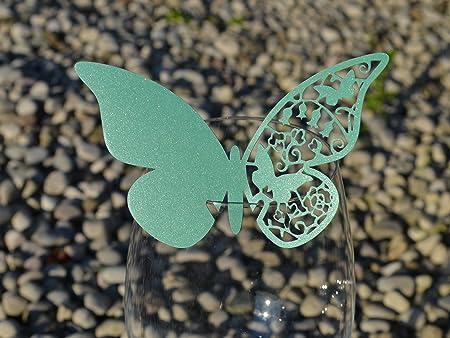 Segnaposto Matrimonio Verde.50pz Farfalle Segnaposto Segnabicchiere Vari Colori Bomboniera