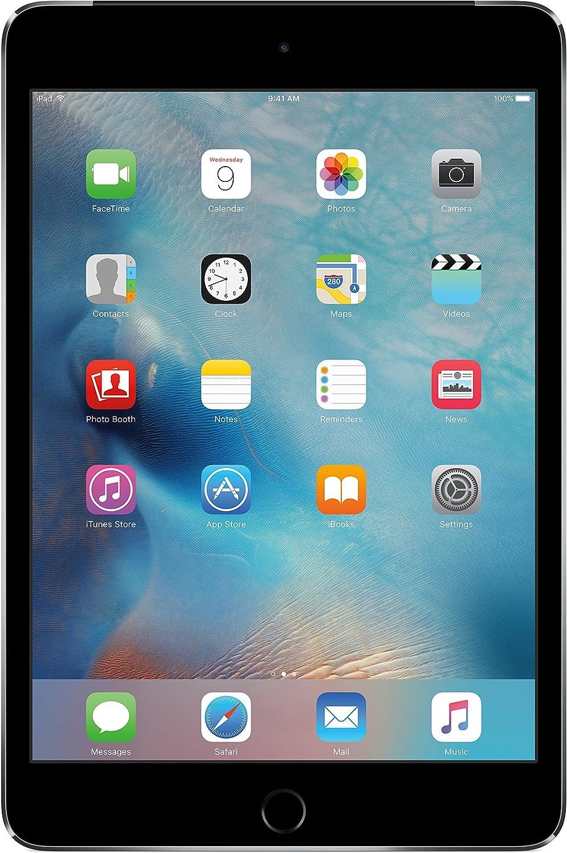 Apple iPad Mini 4, 16GB, Space Gray - WiFi + Cellular (Renewed)