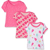 Care Camiseta Bebé-Niñas, Pack de 3