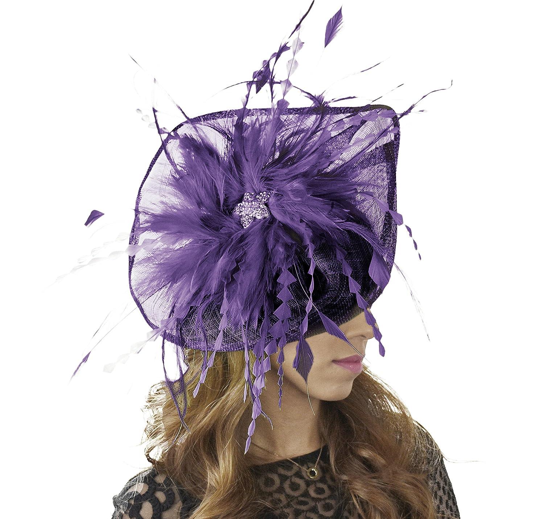 Hats By Cressida - Cappello Cappello da sole - Donna Aubergine b21cca 35fcb37ba970