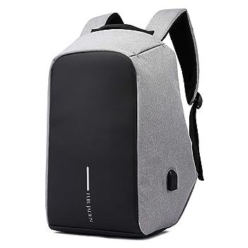 Fur Jaden 15 Ltrs Grey Anti Theft Waterproof Backpack