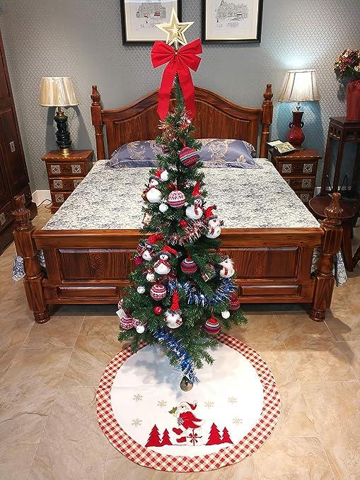 Falda de árbol de Navidad grande y gruesa, decoración de árbol de ...