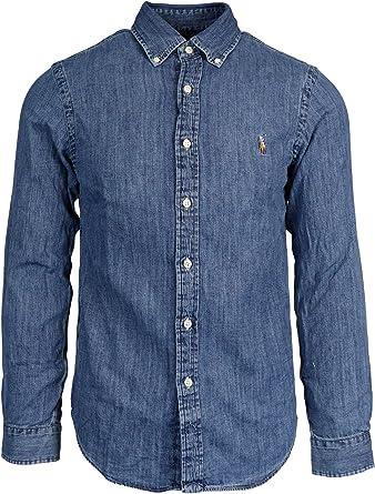 Ralph Lauren Luxury Fashion Hombre 710548539001 Azul Camisa | Otoño-Invierno 19: Amazon.es: Ropa y accesorios