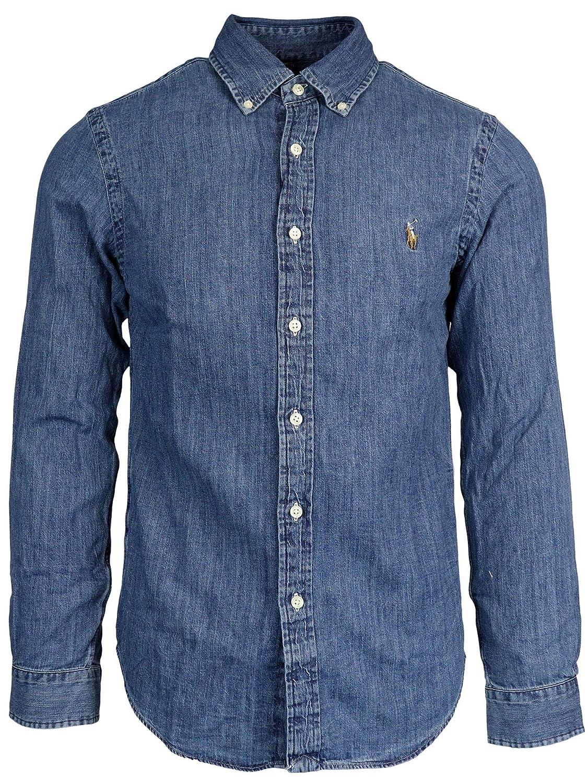 Ralph Lauren Luxury Fashion Hombre 710548539001 Azul Camisa ...
