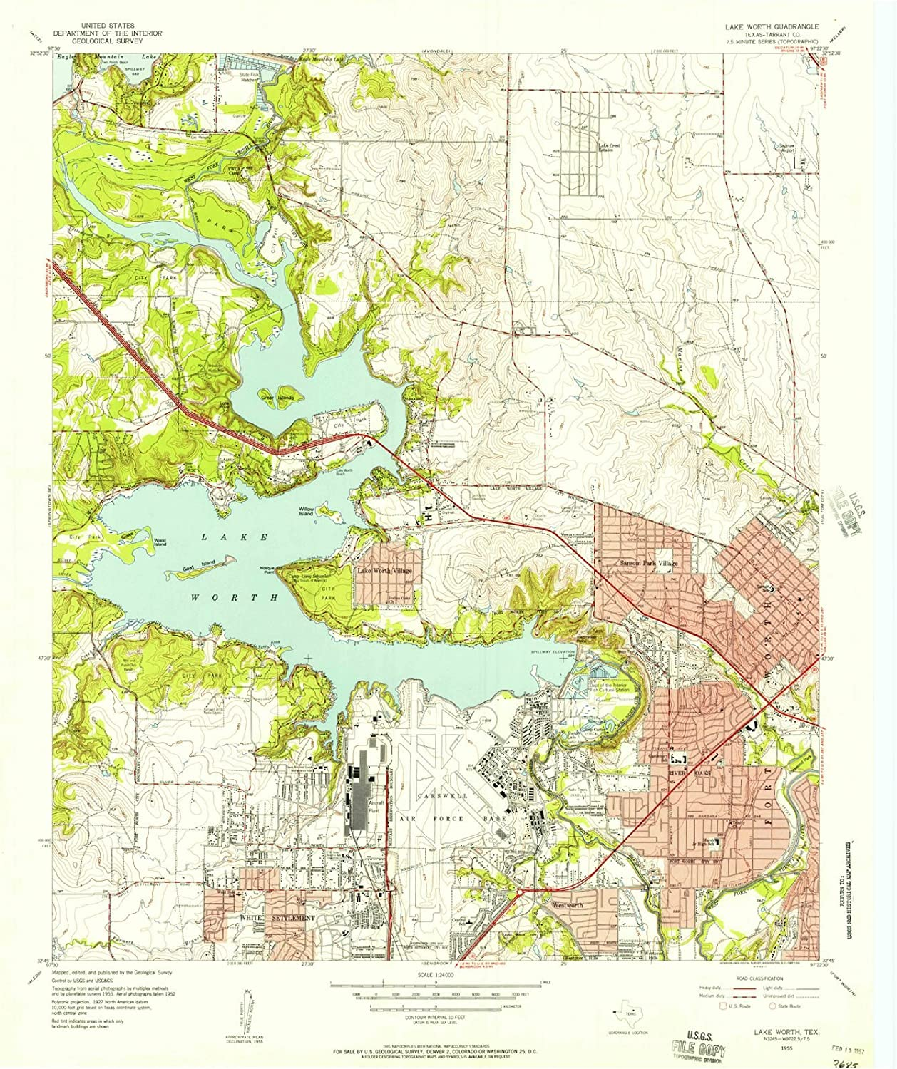 map of lake worth tx Texas Maps 1955 Lake Worth Tx Usgs Historical Topographic Map map of lake worth tx
