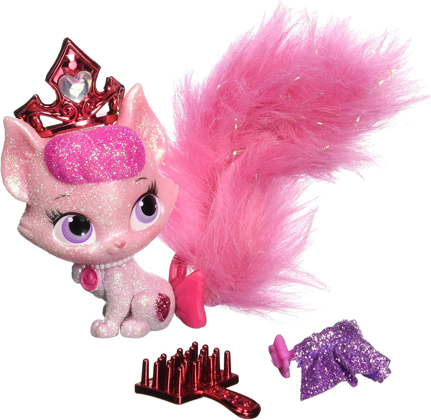 Glitzy Glitter Friends Disney Princess Palace Pets Lily Tiana/'s Kitty