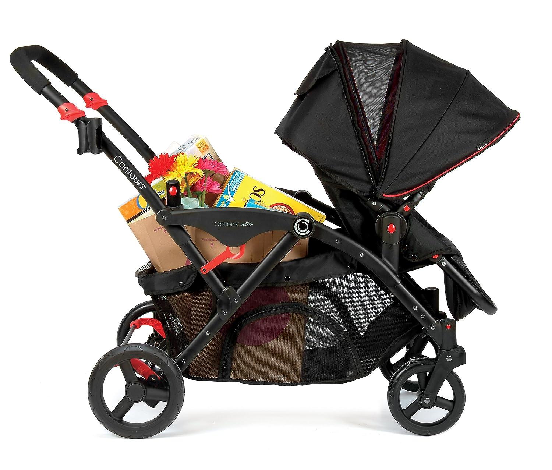 Amazon.com : Contours Options Elite Tandem Stroller, Red Velvet : Baby