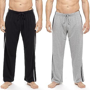 prix compétitif 1ec8f 9a576 INSIGNIA 2 Pack Mens Plain Pyjama Lounge Bottoms Pants Soft Jersey
