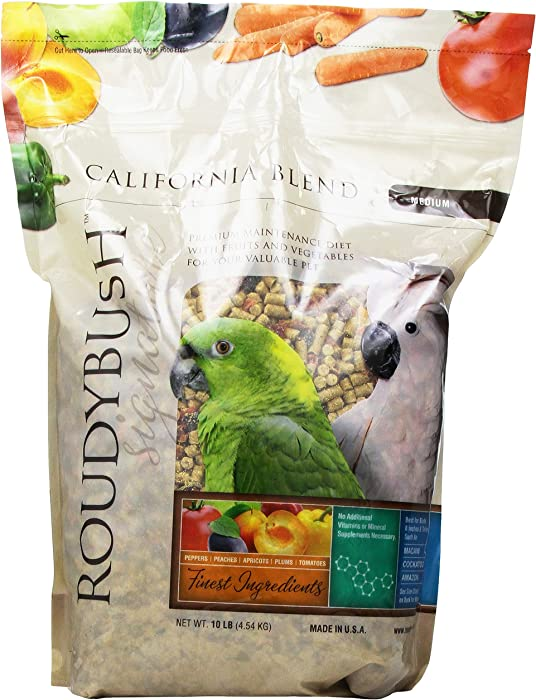 RoudyBush California Blend for Birds Medium 10 Lbs (210MDCB)