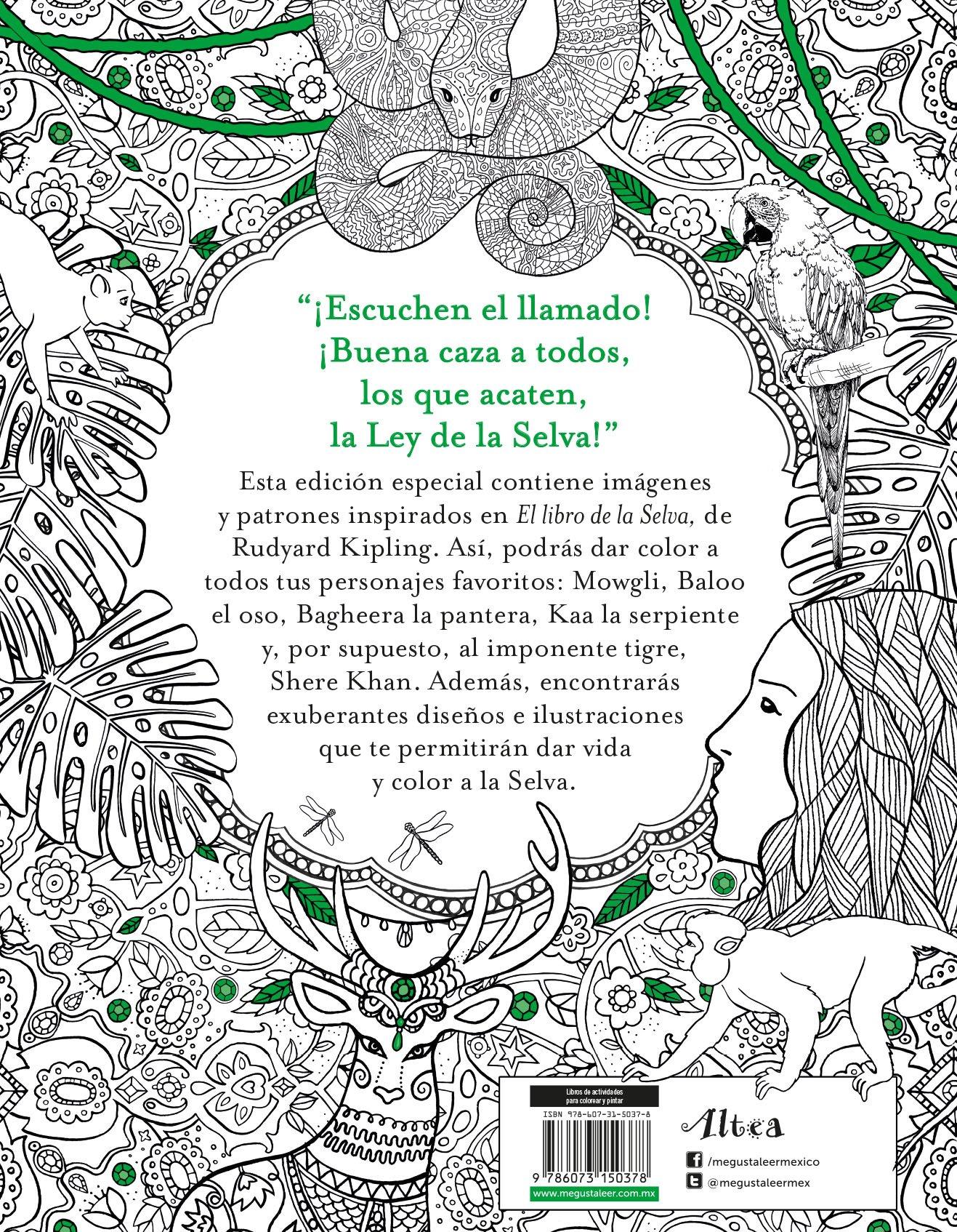 El libro para colorear de El libro de la selva: Rudyard Kipling ...