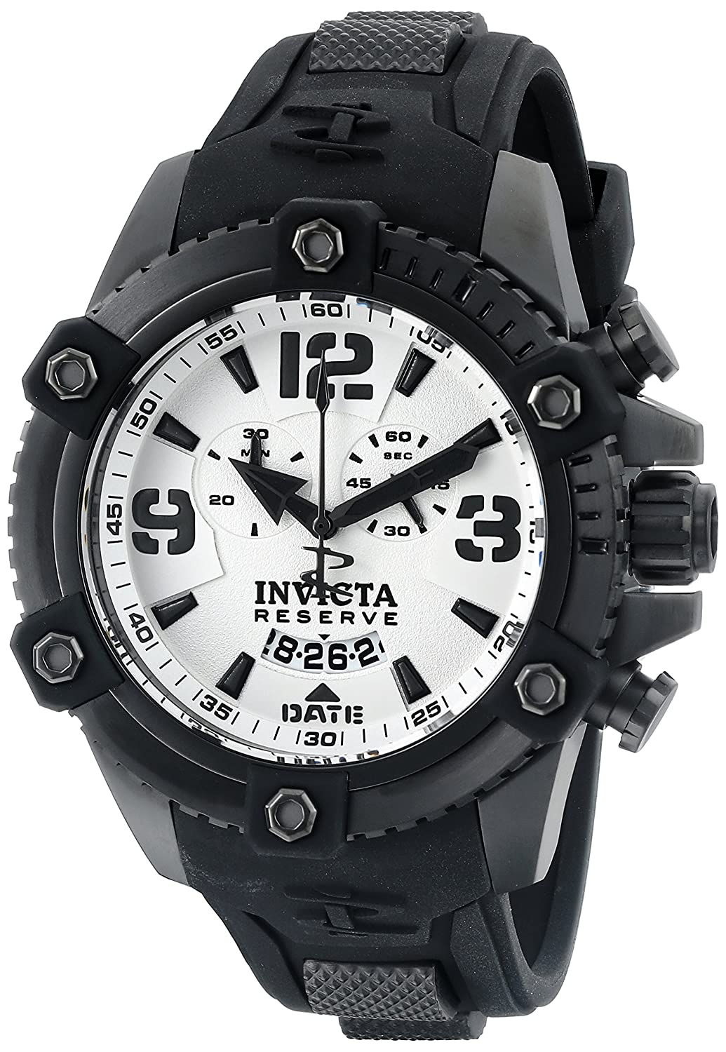Invicta Men s 11178 Arsenal Chronograph White Dial Black Polyurethane Watch