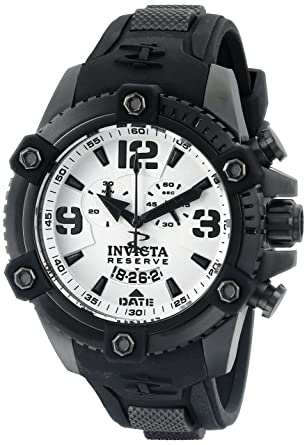 Invicta Men's 11178 Arsenal Chronograph White Dial Black Polyurethane Watch