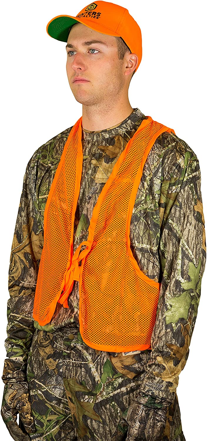 Hunters Specialties Safety Vest, Blaze Orange, One Size: Clothing