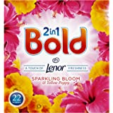 Bold 2 in 1 Washing Powder Sparkling Bloomand Poppy 132 Washes, 1.4 kg, Pack of 6