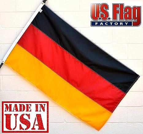 69c7d46e0c3f Amazon.com   US Flag Factory - Germany German Flag (Sewn Stripes ...