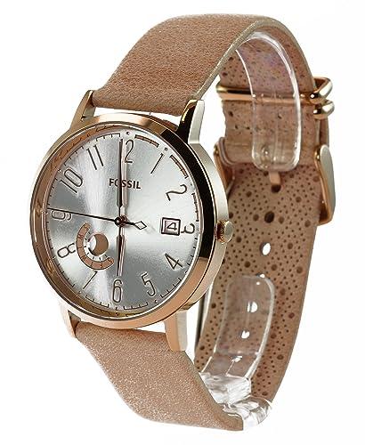 Fossil Damen-Armbanduhr Vintage Muse Analog Quarz Leder ES3751