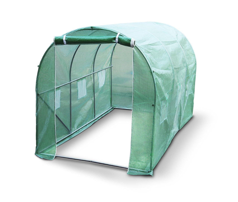 Kenley 3x2m Gewächshaus Treibhaus FoliengewächshausFolienzelt Tomatenhaus Folientunnel für Garten - Starke Stahlrahmen 25mm
