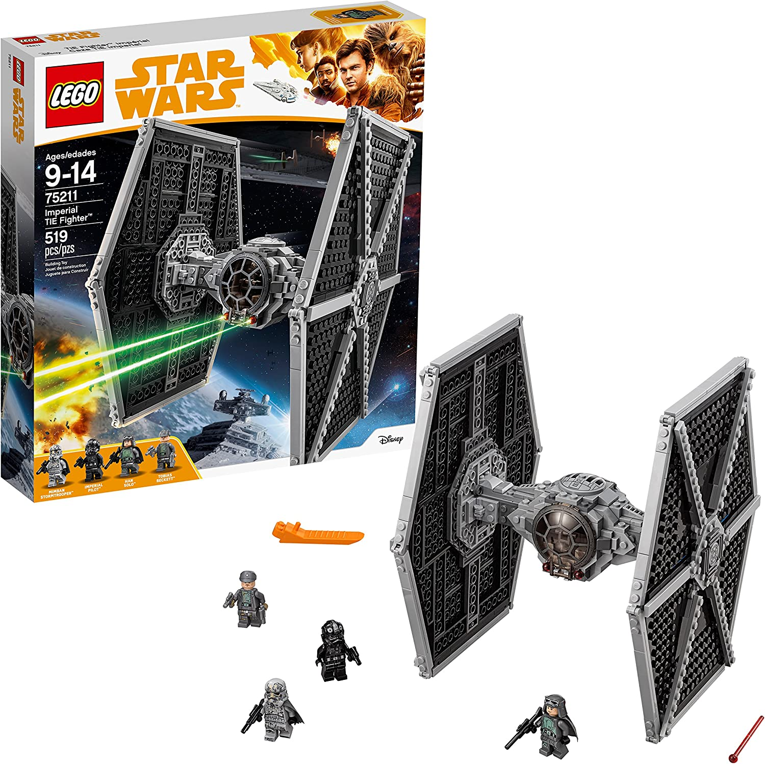 LEGO Star Wars Imperial TIE Fighter 75211 Building Kit (519 Pieces)
