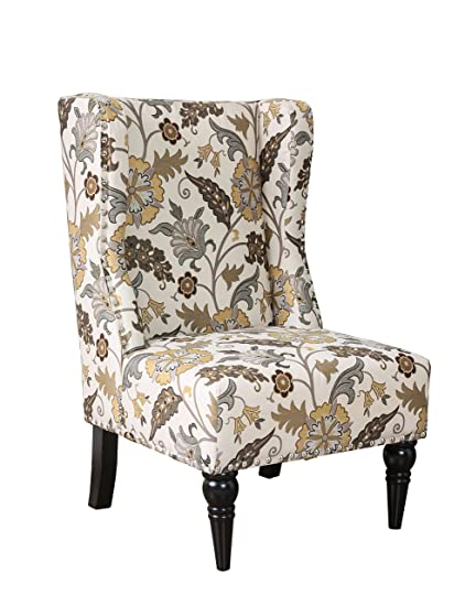 HOMES: Inside + Out IDF AC6182B Ajax Chair Contemporary, Floral