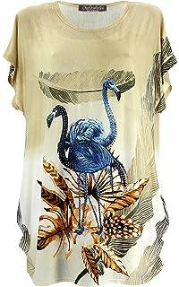 Charleselie94® - Tee Shirt drapé Strass Tunique Grande Taille Beige CAMARGUE  Beige 9d978892e6a