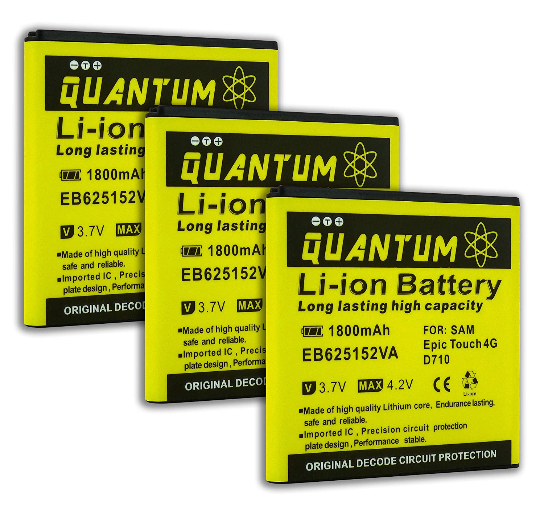 Amazon.com: 3x Baterías 1,800 mAh S2 Epic 4G Touch Quantum para Samsung Galaxy S2 Epic 4G Touch + Cargador de Pared USB para el Galaxy S2 SPH-D710 (Sprint, ...