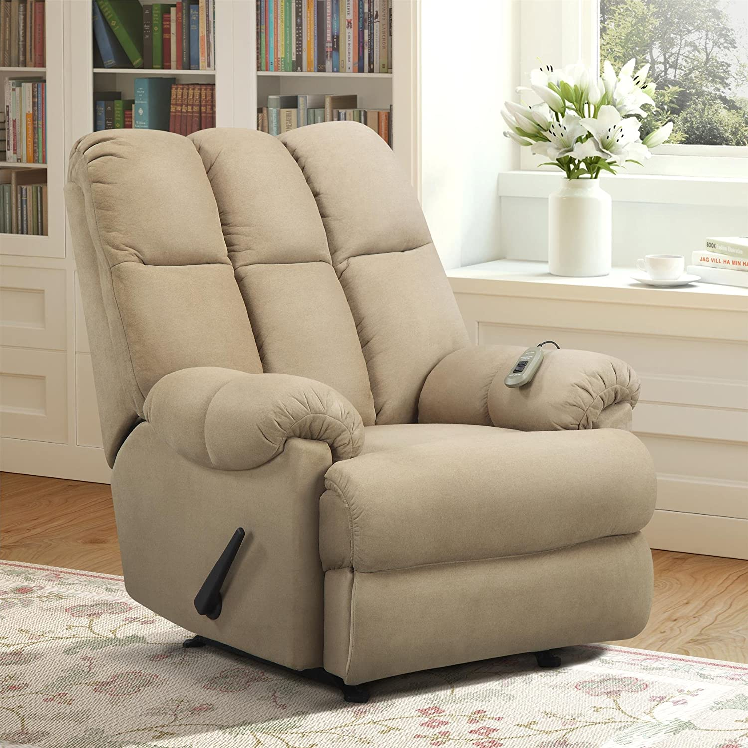 reviews chair rated uk best foxhunter chairs recliner bonded cinema leather in massage