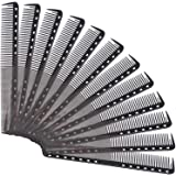 24 Packs Fine Cutting Comb Carbon Hairdressing Comb Heat Resistant Barber Comb for Most Hair Types (24 Packs)