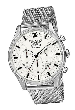 fec70d8ea Amazon.com: AVIATOR Chronograph Watch for Mens - Aviators Waterproof ...