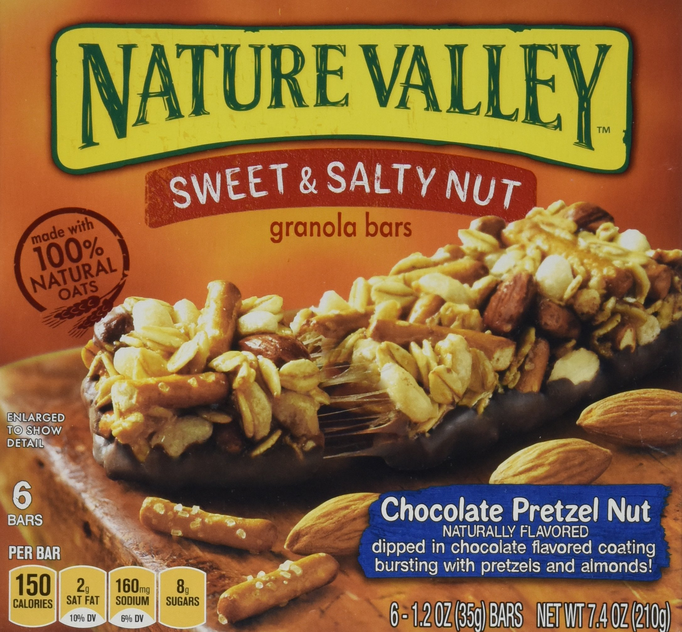 Nature Valley, Granola Bars, Sweet & Salty, Chocolate Pretzel Nut , 7.4oz Box (Pack of 4)