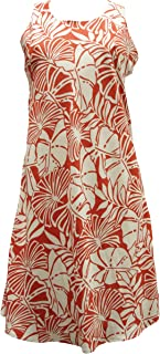 product image for Paradise Found Womens Pareau Leaves Short Tank Dress Orange M