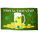 Quality Standard Flags Happy St. Patty's Day Polyester Flag, 3 by 5'