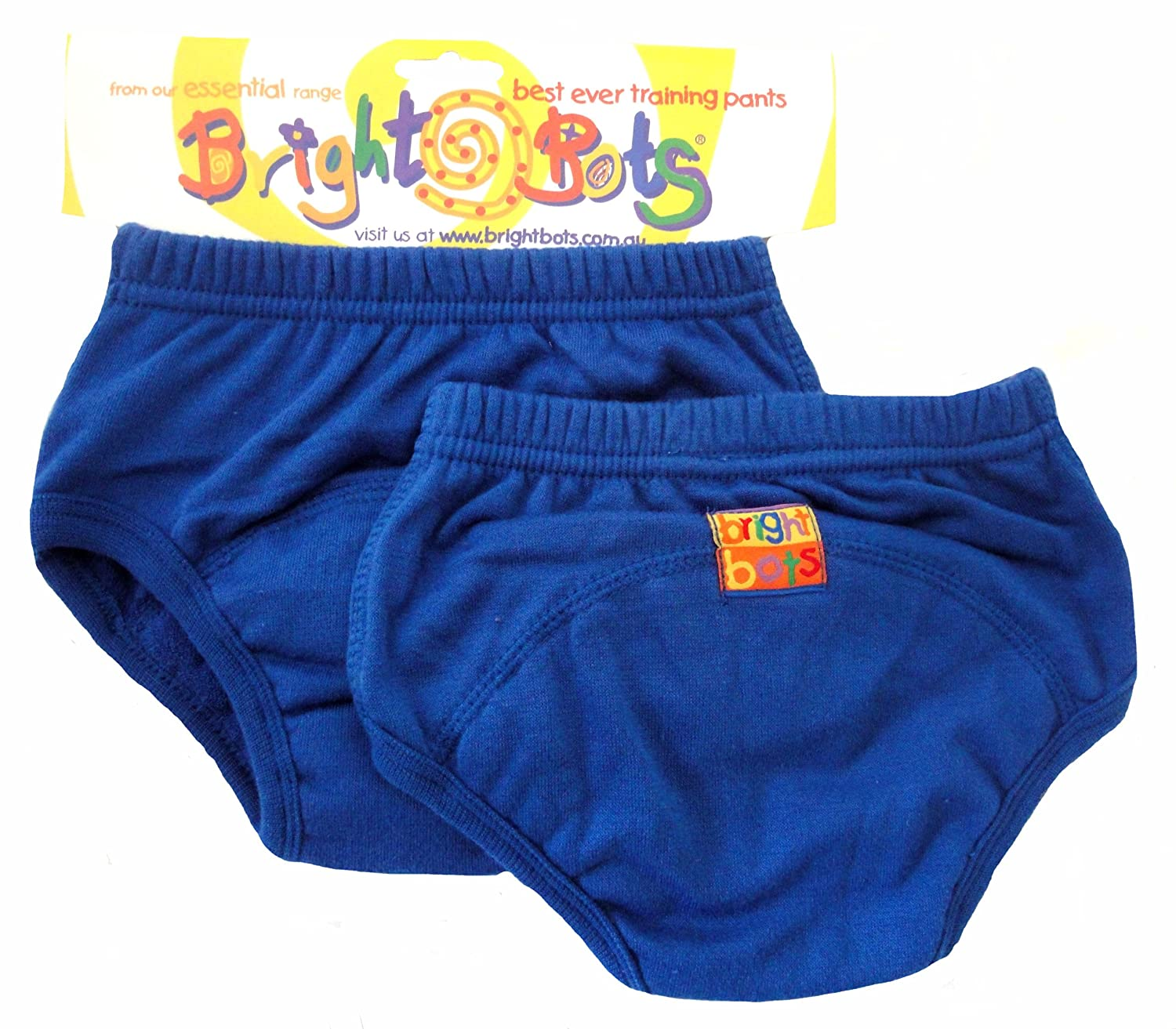 Bright Bots Potty Training Pants (Twin Pack, Blue, Small, 12 -18 months) 2AAETRA1-2BS