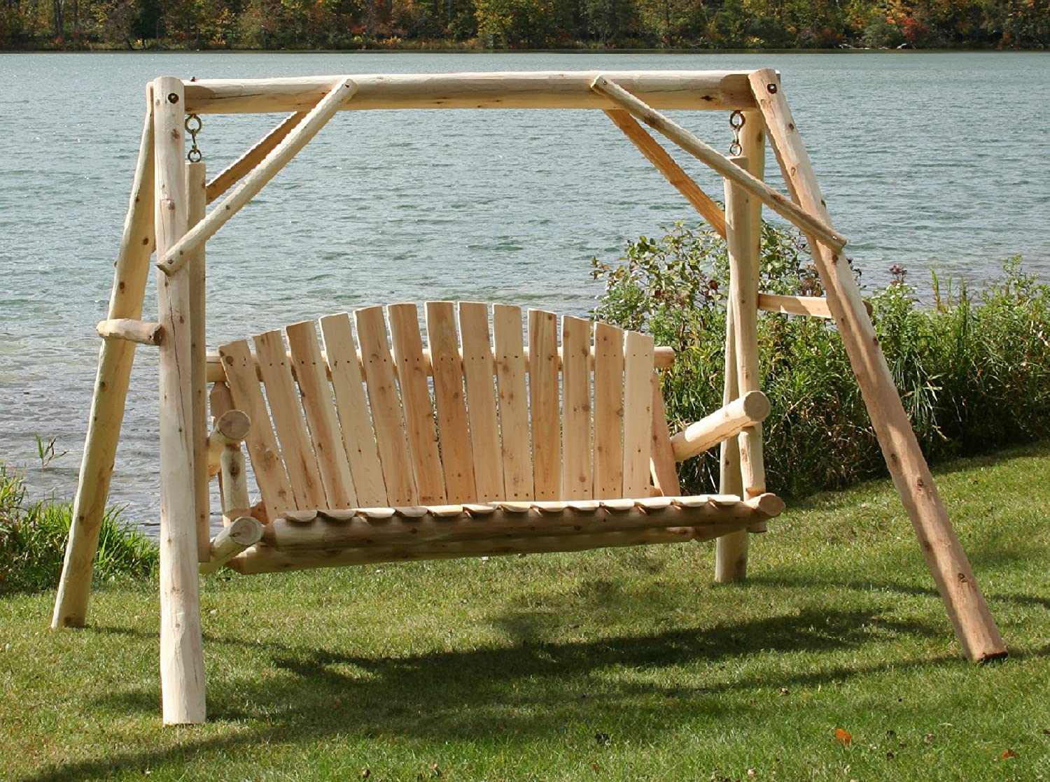 Amazon.com : Lakeland Mills 5' A - Frame Yard Swing : Bench Swings With A  Frames : Garden & Outdoor