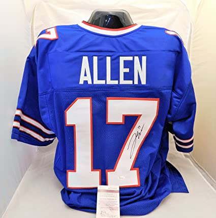 new styles 01d59 af6a7 Josh Allen Autographed/Signed Authentic Style Blue Bills ...