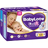 BabyLove Cosifit Infant Nappies 3-8kg (26 pack x 4)