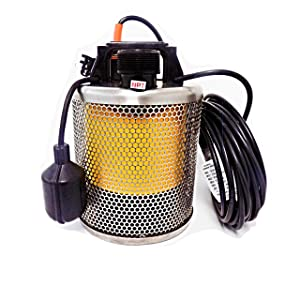 Site Drainer Pit Boss 101T, 1/2 HP, Non Clogging, Electric Submersible Dewatering and Utility Pump with Tethered Float Switch