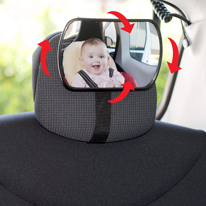 Ajustable 360/º Apto para los Asientos y el Parabrisas la Vision del Bebe es Amplia y Clara SUMEX 1 Espejo Retrovisor 3 en 1 para Vigilar al Beb/é en el Coche