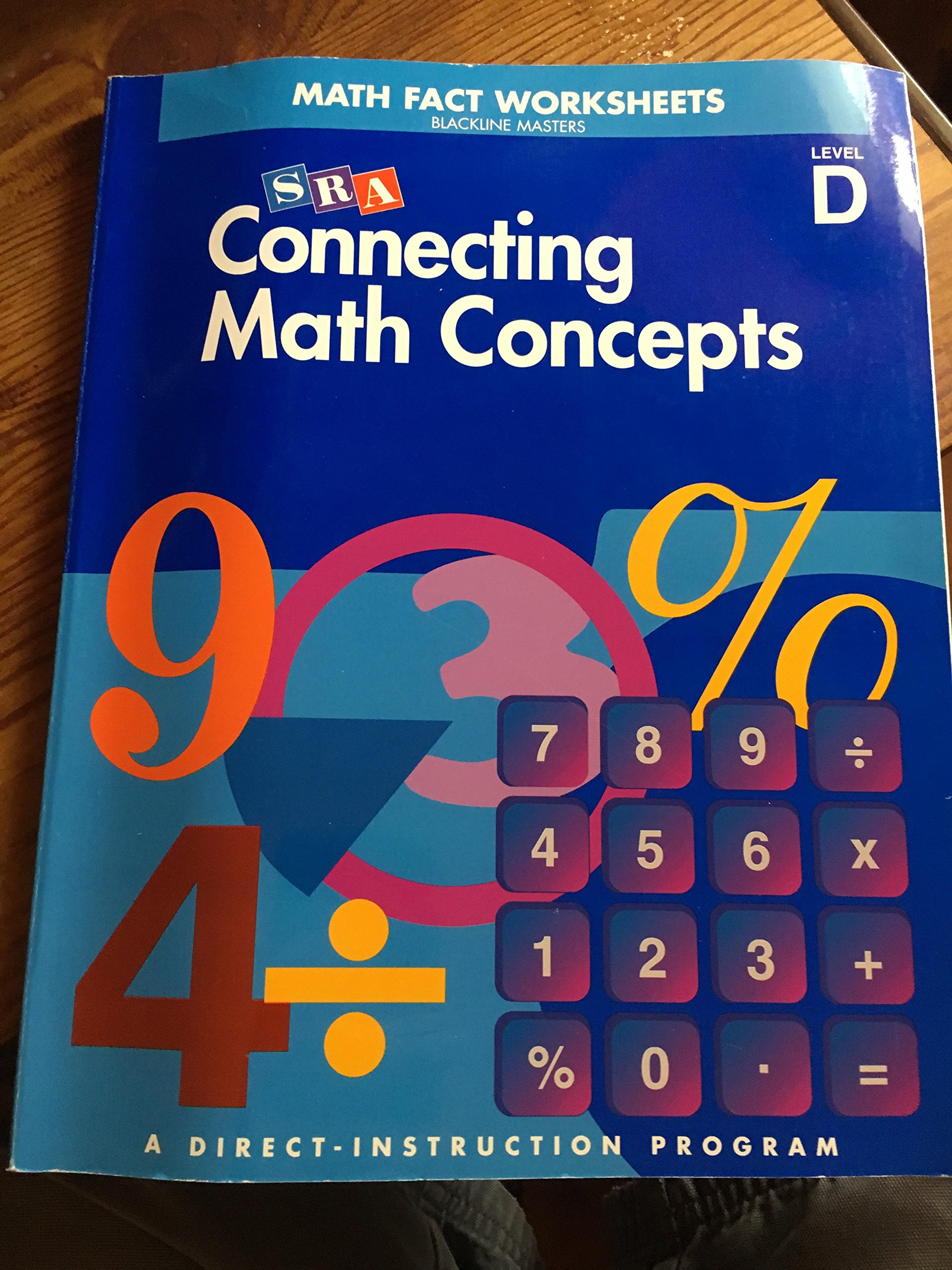 Connecting Math Concepts: Math Fact Worksheets Blackline Masters ...