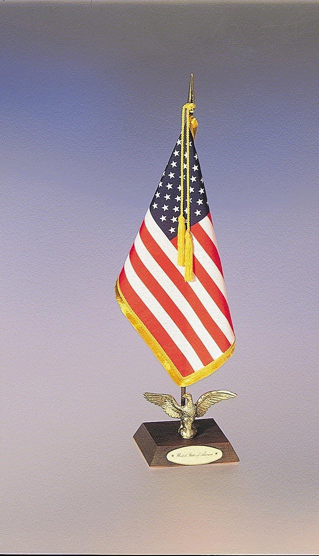 FlagandBanner US Flag Desk Sets (Ambassador Set) (8 in. x 12 in. / 5 in. Square Base)
