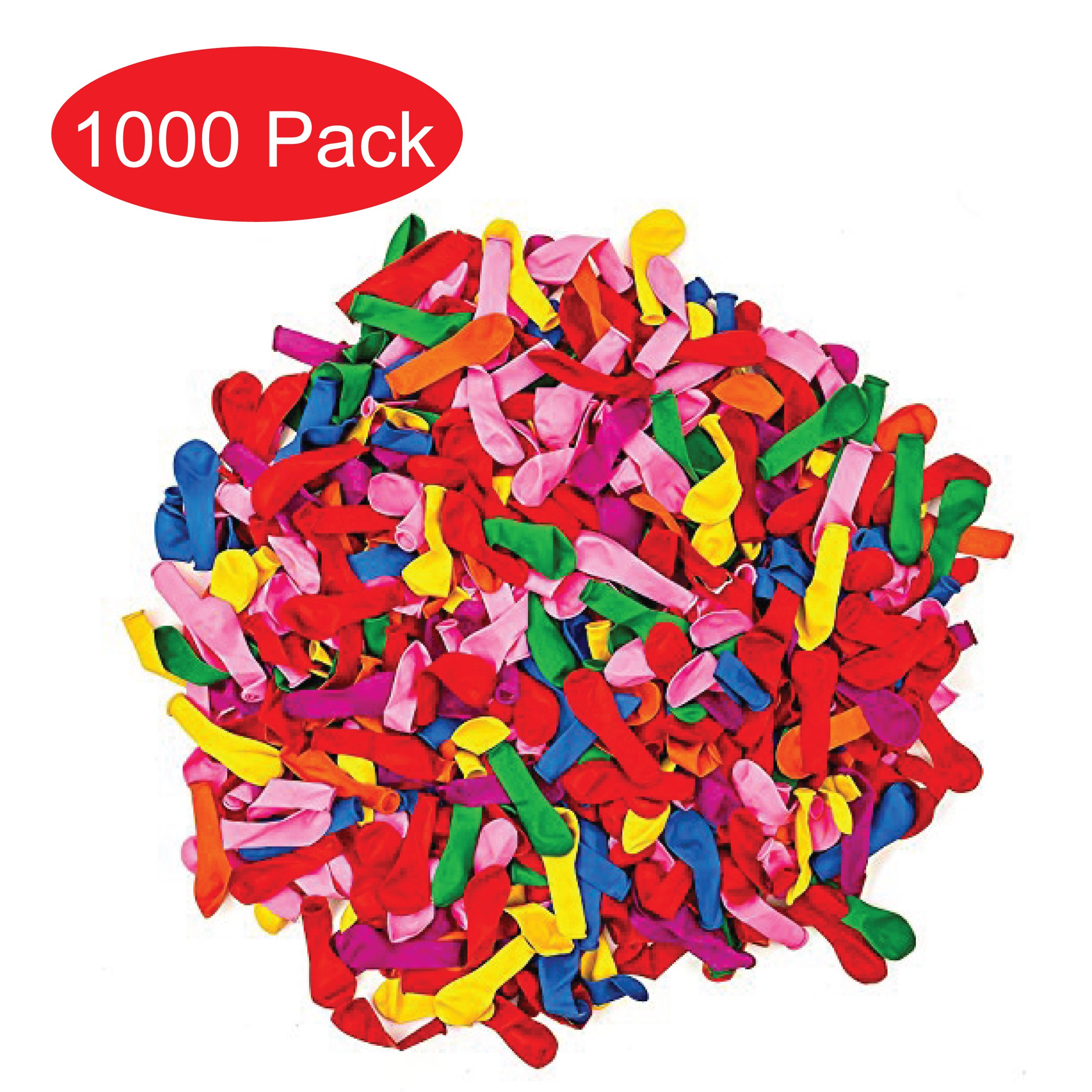 Water Balloons Refill Quick & Easy Kit - 1000 Balloons +1000 Rubber Bands + 5 Quick & Easy Refill Tools Diy Toys -Save Money,Summer Splash Fun for Kids & Adults