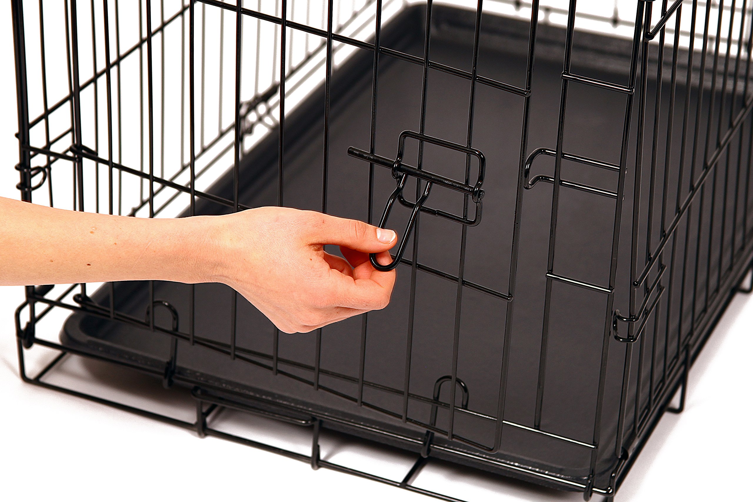 Carlson Pet Products Secure and Foldable Single Door Metal Dog Crate, Medium by Carlson Pet Products (Image #2)