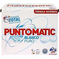 Puntomatic Detergente en Pastilla Ropa Blanca, 24 Lavados