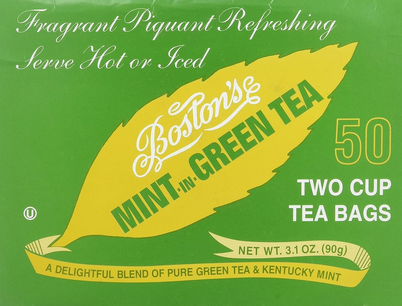 Boston/'s Mint-In-Tea Two Cup Tea Bags 50 CT