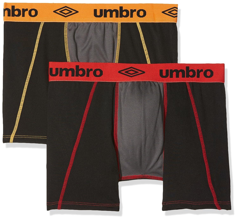 Umbro Herren Sport Unterwäsche Aktiv Boxer Atmungsaktives Mesh-Panel, 2er Pack TEXV2|#Textiss UMM/AM/1/PK2/TEC4