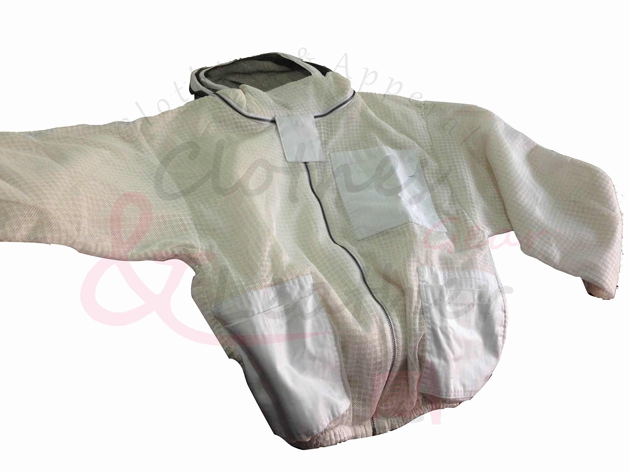Ultra Ventilated Beekeeping Jacket With fancy Veil (XXL) by Clothes & Leather Gear (Image #5)