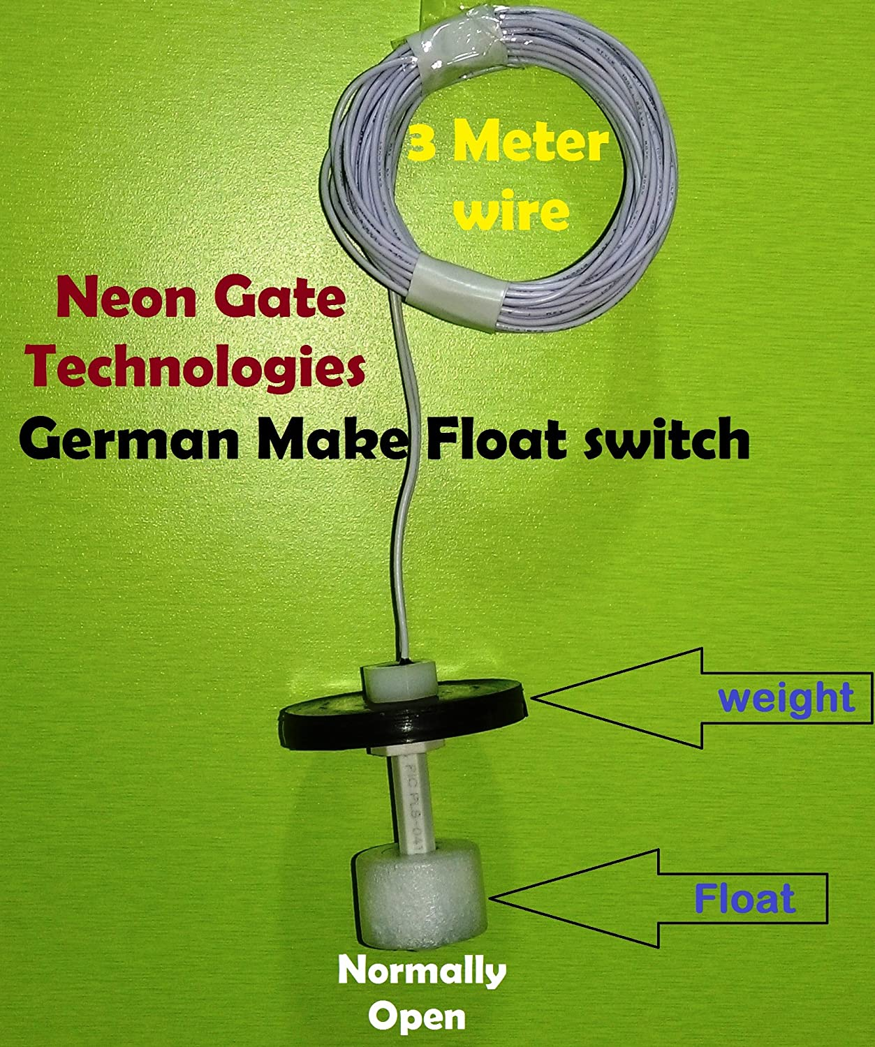 Buy Neon Gate Automatic Water Level Controller For 1 Or 3 Phase Wiring A Switch Submersible Motors Having Starter Rustproof Magnetic Float Switches Included Online At Low