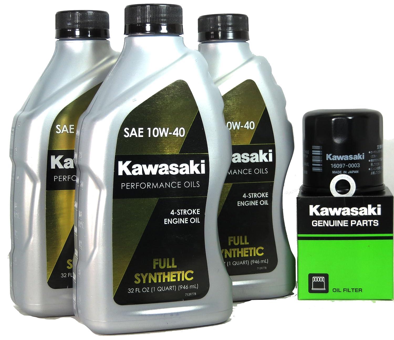 Kawasaki Teryx 750 4 x 4 LE Full Synthetic Oil変更キット B00BL4VJ0Y