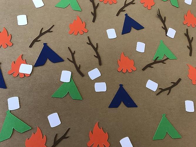 Amazon Com Camping Confetti Camping Birthday Party Decor