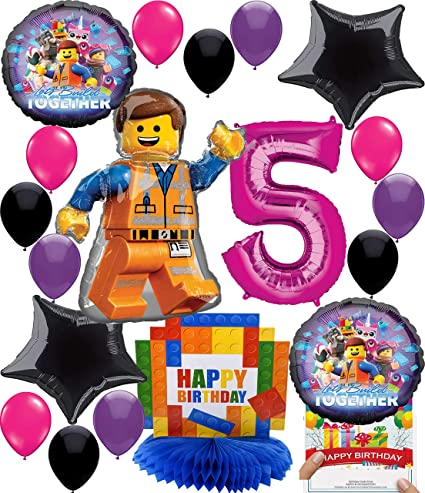 Amazon.com: RAPIDNGUANTEED Lego Movie 2 - Globo decorativo ...