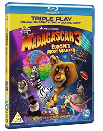 Madagascar 3: Europes Most Wanted - Triple Play (Blu-ray + DVD +